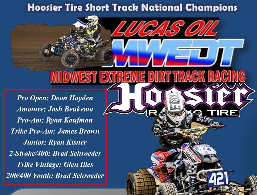 RIP IT MIDWEST EXTREME DIRT TRACK NATIONALS - MWEDT SHORT TRACK